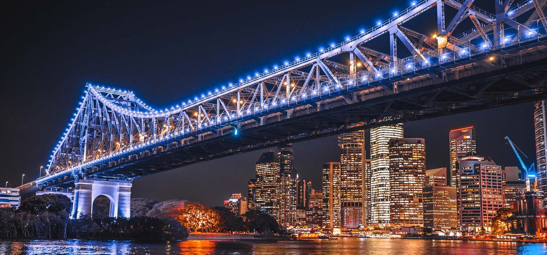 brisbane-bridge-night | Alex Perry Hotel & Apartments