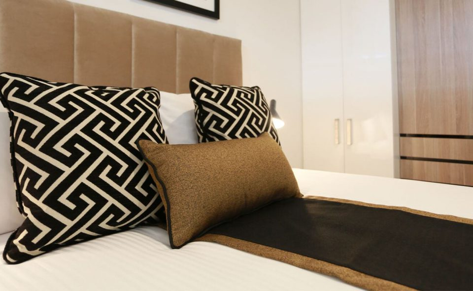 one-bedroom-bedroom-closeup | Alex Perry Hotel & Apartments