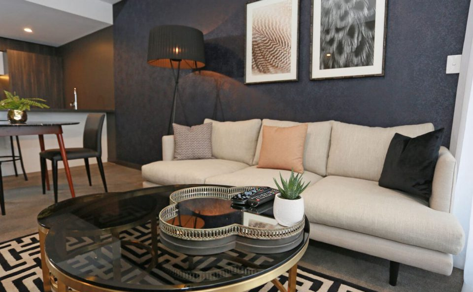 one-bedroom-executive-brunette-lounge | Alex Perry Hotel & Apartments