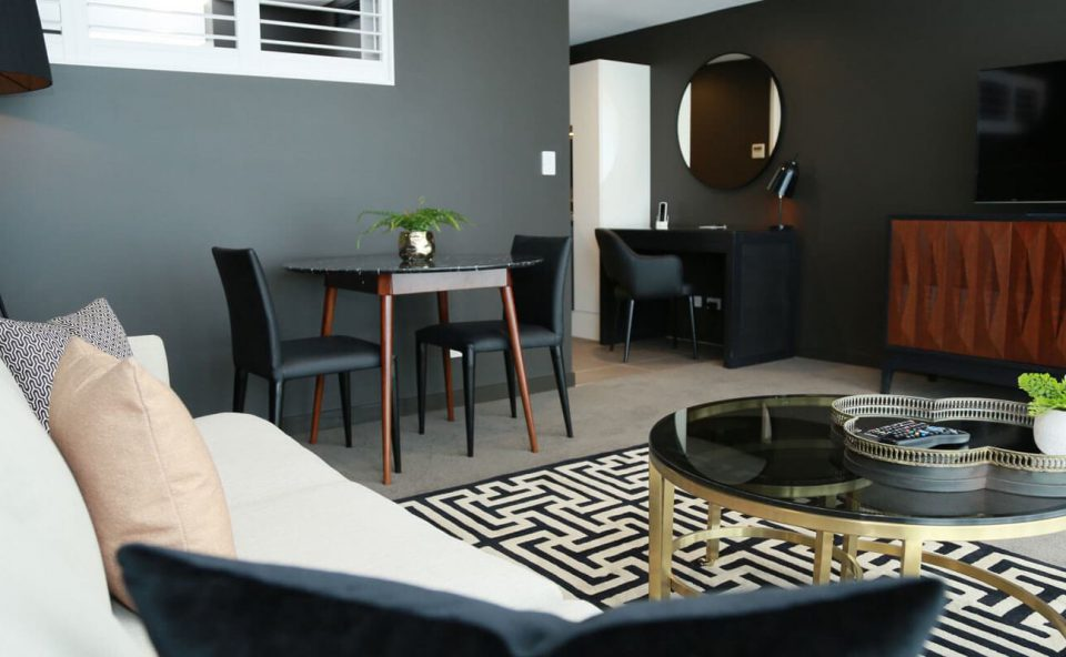 studio-apartment-lounge-pillow | Alex Perry Hotel & Apartments