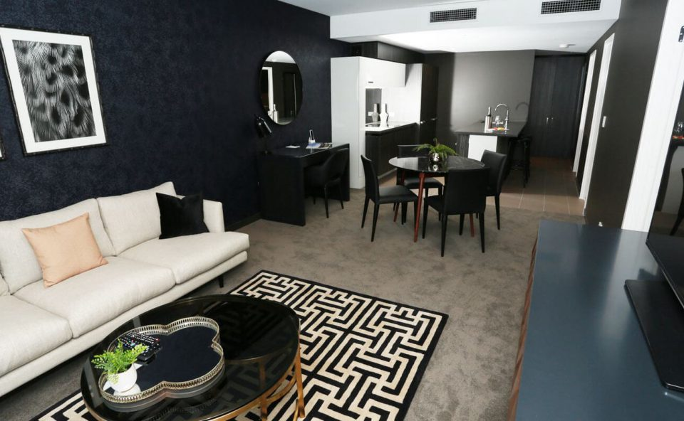 two-bedroom-executive-lounge-dining | Alex Perry Hotel & Apartments